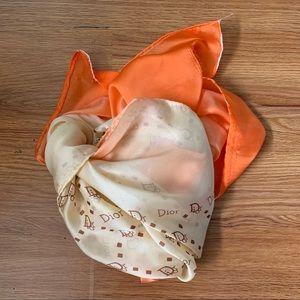 VTG DIOR Large Silk Scarf